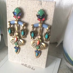 Stella & Dot 4 in 1 Chandelier Earrings